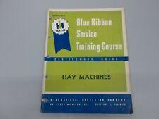 International Ih Hay Machines 25 16 18 Mowers 15 Baler Service Training Manual