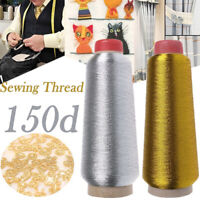 Metallic Yarn Cross Stitch Sewing Machine Embroidery Thread Gold/Silver Wire