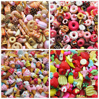 Mini Play Toy Food Cake Biscuit Donuts Miniature Plastic For Dolls 10pcs/lot