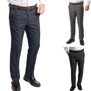 Mens Active Waist Trouser 30 - 60 Expanding Waist Single Pleat Stain Resistant