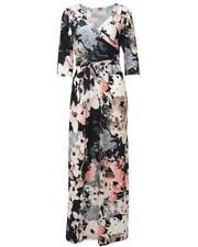Womens Sexy Summer Floral Faux Wrap Long Dress Deep V Neck Print Maxi with Belt