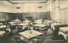 Artvue 1940s Meriden Mississippi Weidmann's Restaurant interior postcard 1213