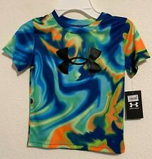 NWT UA Under Armour Little Boys Summer Daze Short Sleeve T-Shirt Blaze Orange 5