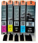 5 Genuine CANON 250/251 Ink cartridges Combo--MG5420 MG5520 MG6320 MX722 MX922