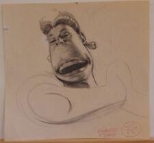 STEVE RUDE original art, GLADYS study, 7.5x8, more art in store