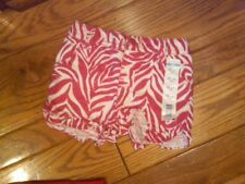 NWT TODDLER GIRLS SUPER CUTE RED SPARKLY ZEBRA PRINT RUFFLED LEG SHORTS 12 MOS