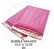 (10) Large Hot Pink Colored Decorative Bubble Mailers 10.5 X 15 Size #5