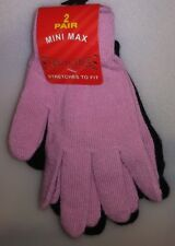 MINI MAX 2 PAIR LADIES STRETCHERS GLOVES 1 PINK & 1 BLACK ONE SIZE A-18