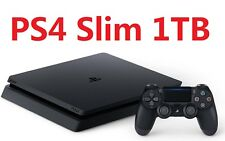 New Sony Playstation 4 PS4 Slim 1TB Gaming Console Jet Black *Brand New Sealed*