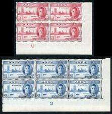 Aden SG28/9 1946 Victory Plate Blocks of Four U/M