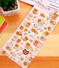 ~ *New San-x Rilakkuma Bear Sticker Sheet B Japan Cute Japan*~ US SHIP +FREE SHP