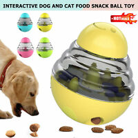 Pets Dog Ball Food Dispenser Dispensing Tumbler Feeder Puzzle Treat Ball Toy J