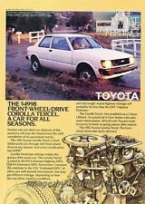 1982 Toyota Tercel Front-wheel-driveOriginal Advertisement Print Art Car Ad J792