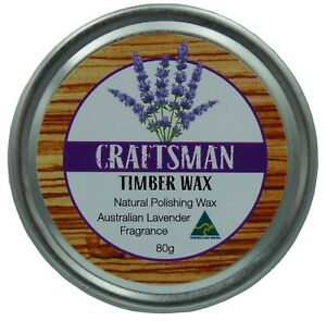 Australian Lavender  Carnauba & BeesWax Wood Wax  - No Turpentine or Solvents