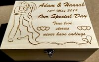 Wooden Wedding Memory Box - Personalised - Made to Order - Gifts - Storage
