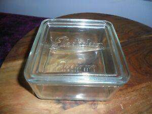 Vintage Electrolux Depression Era Clear Glass Lidded Butter box