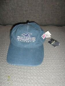 NEW Hollister Frayed Chino Baseball Adjustable buckled strap Cap Hat, 1 size