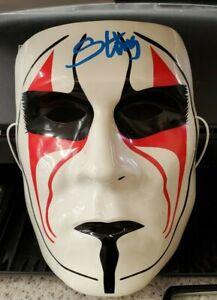 STING TNA WWE SIGNED MASK WITH BECKETT COA J37866