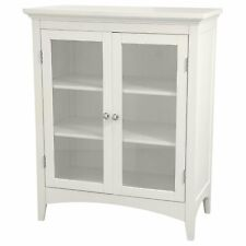 Classy Collection Double Door Floor Cabinet, White