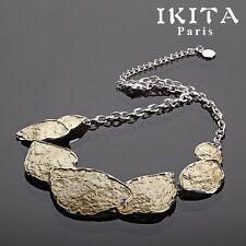 Cable de lujo-cadena collar esmaltes Ikita parís statement Collier vidrio