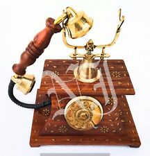 Brass Vintage Rotary Phone Old Fashioned Telephone French Victorian Style Gifted