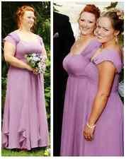 Chiffon Lavender Bridesmaid Dress (size 16)