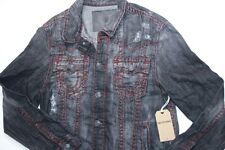 True Religion Men Denim Black  Jimmy Super T Jacket XXLarge 2XL XXL SLim Fit