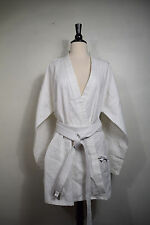 PRO FORCE TAEKWONDO TAE KWON DO WHITE UNIFORM - SHIRT & BELT WOMEN'S SIZE 5