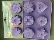 Silicone Soap Wax Melts Cookie Bath Bomb Makes 9 Maamoul Flower Star Heart Molds