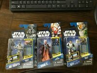 CLONE WARS SHAAK TI CW31, JUNGLE ARF TROOPER CW24, AND HEVY CW41