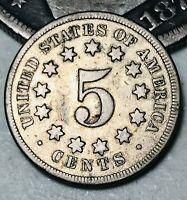1869 US Shield Nickel 5 Cents 5C High Grade Civil War Good Date US Coin CC3355