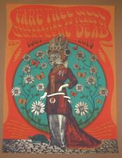Status Serigraph Grateful Dead Santa Clara Poster Signed Numbered Fare Thee Well
