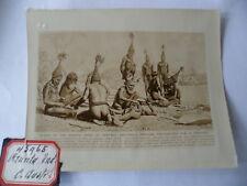 OLD EARLY PHOTO AUSTRALIAN ABORIGINAL MEN ARUNTA TRIBE AUSTRALIA MAGIC RITUAL