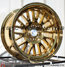 15X8 F1R F04 WHEEL 4x100/114.3 +0 73.1 GOLD CHROME RIM FITS ACURA INTEGRA BMW 31