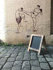 Heavy Rustic A-Frame Chalkboard, Recycled Timber, Pavement Menu Blackboard