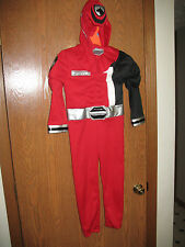Power Rangers Halloween Costume Kids Red Small Red Power Rangers FREE SHIP
