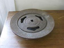 antique CAST IRON INCENSE BURNER dish with lid