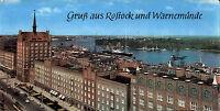 DDR Mehrbild-AK Ostsee Rostock & Warnemünde Lange Strasse Blick zum Hafen