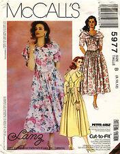 Vintage 1990s McCall's Misses' Dress Pattern 5977 Size 8-12