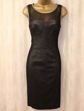 Karen Millen Double Mesh Layer Tailored Panel Pencil Fitted Party Dress 10 38