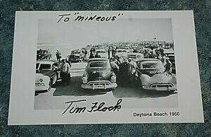 NASCAR Tim Flock autographed photo 51/2x81/2