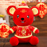 Qu_ 2020 Mouse Year Red Mascot Rat Plush Doll in Tang Suit Home Decor Kids Toy C