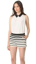 Girl. BAND OF OUTSIDERS black white SILK Dot Jacquard Blouse Top Shirt NWT NEW 2