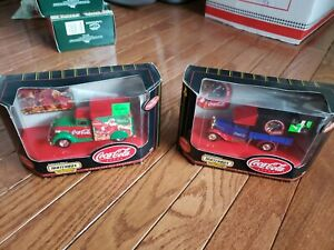 Matchbox Collectibles Coca Cola 1937 Dodge Airflow and 1932 Ford Model AA NIB