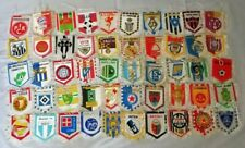 Massive Collection of 50 Old Football Soccer Clubs Double Sided Pennants