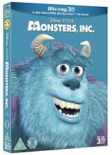 MONSTERS, INC. [Blu-ray 3D + 2D] UK Exclusive 3D Disney Pixar Movie w/ Slipcover