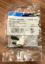 New Leviton 41106-RT6 Voice Grade Quickport Phone RJ-11 Connector, Light Almond