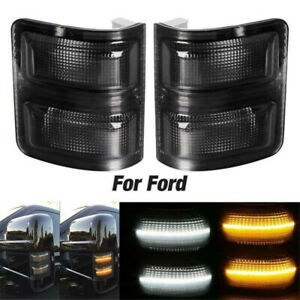 2008-2016 Ford F Serius Super Duty LED Switchback White/Amber Side Mirror Lights