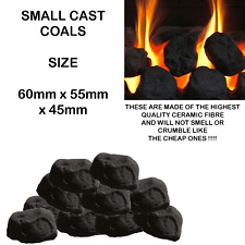20 fAKE RCF*replacement SC cast moulded coals gas fires coal/ceramic OVAL BLACK