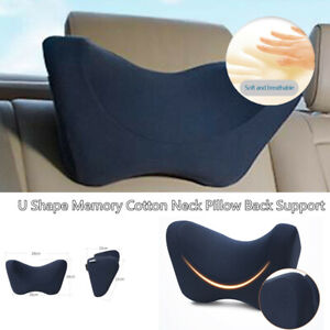 Auto Side Rest Pillow Memory Foam Car Seat Soft Headrest Neck Support Cushion